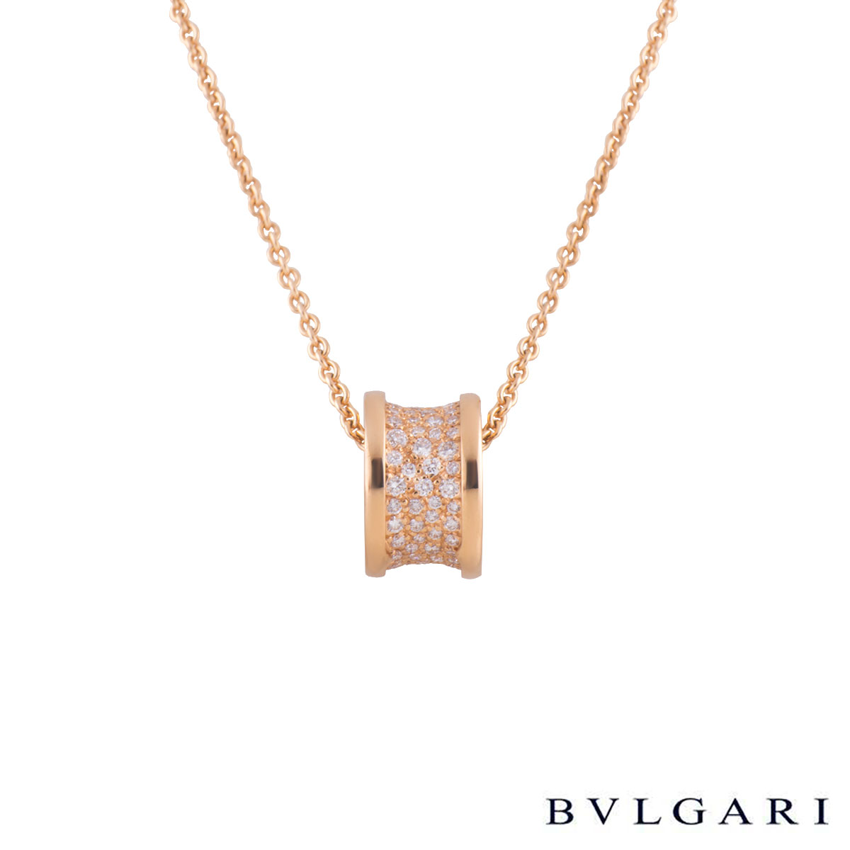 Bvlgari Bvlgari Rose Gold Diamond Pendant CL856300